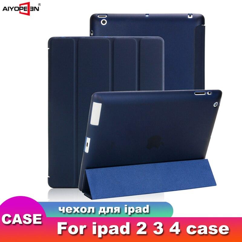 מקרה עבור iPad 2 3 4, aiyopeen Ultra Slim עור מפוצל Flip כיסוי רך TPU חזרה Magentic חכם מקרה עבור iPad 2/3/4 A1430 a1460