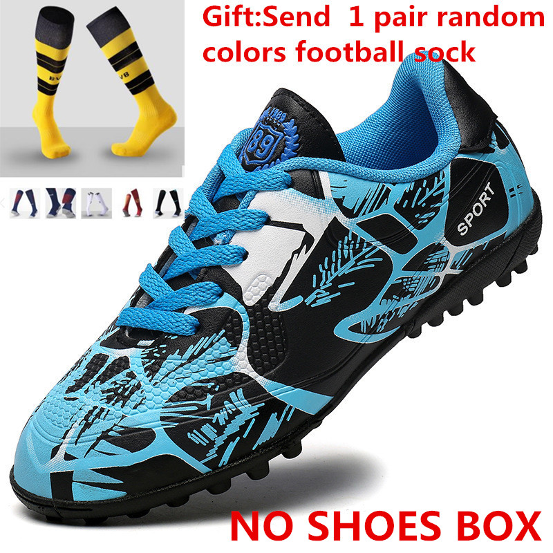 01c1d0760241 Soccer Shoes 2017 New Pattern Youth Adult Training Shoe Teenagers Male Girl  Child Football Shoe Send 1 Pair Sock L388