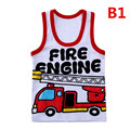 Summer Children Cotton Vests Kids Casual Sleeveless T- Shirts For Boys Girls Sport Vests Cartoon Cars Children Clothes