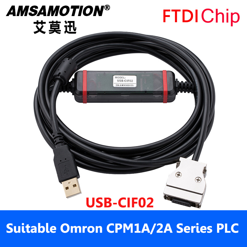 Suitable Omron PLC Programming Cable USB-CIF02 Download Cable CPM1A/2A Series Download Communication Cable 1pc used ge plc programming cables pac series versamax series 90 series usb interface programming cable