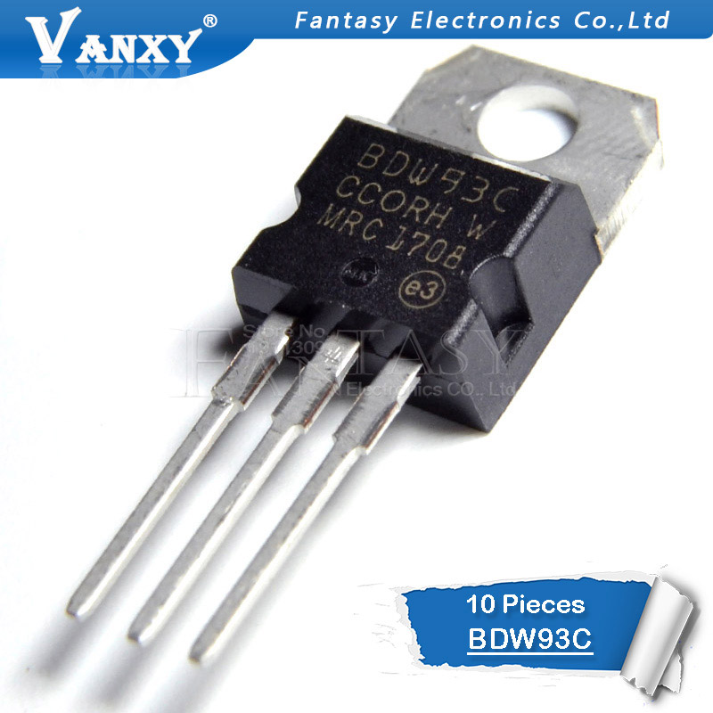 10PCS BDW93C TO-220 BDW93 TO22010PCS BDW93C TO-220 BDW93 TO220