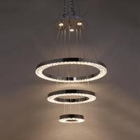 Современные хрустальные сплав трехслойная подвесной светильник светодиодный 220 V Новинка Подвесная лампа для спальни Ресторан отеля зал го