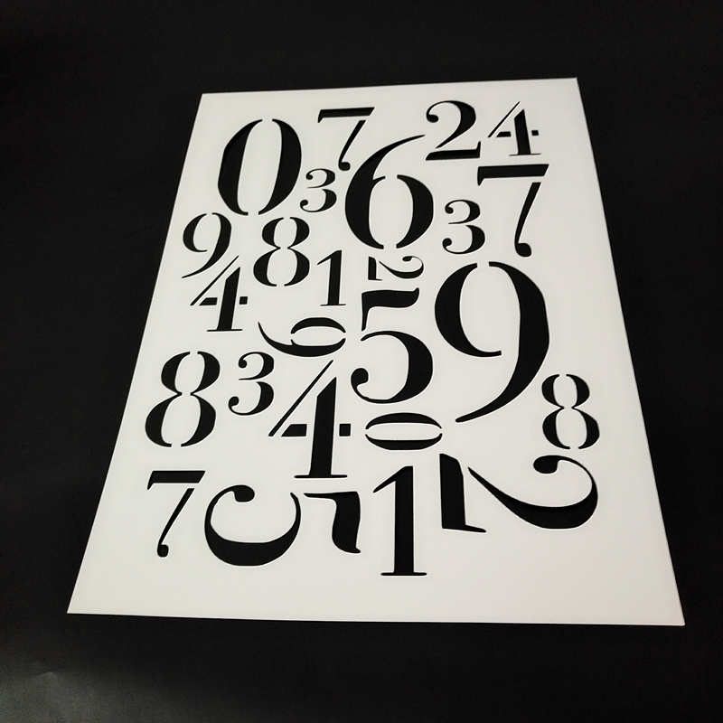 Numbers Stencil For Painting,Reusable Stencils For Acrylic Paints,Chalk Paints,Furniture Painting,Craft Projects,Scrapbook, A4