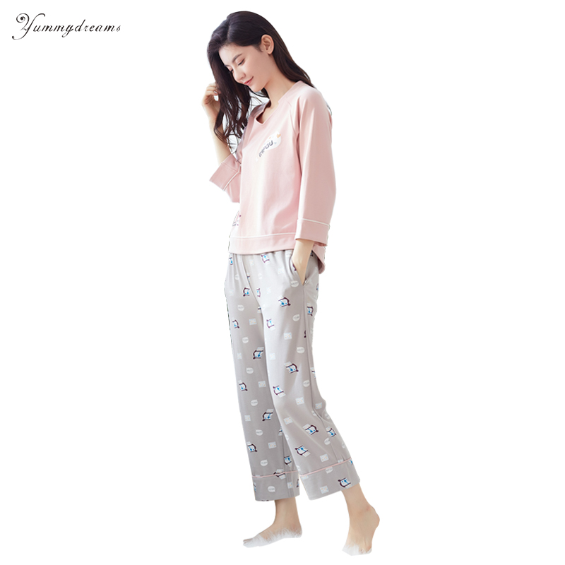 Yummydreams 2017 Autumn & Winter Cotton Pyjamas Long ...