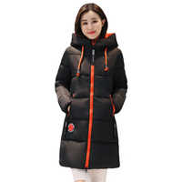 Mulheres jaqueta de inverno com capuz quente engrossar algodão acolchoado casaco de inverno feminino outwear parka casaco feminino inverno