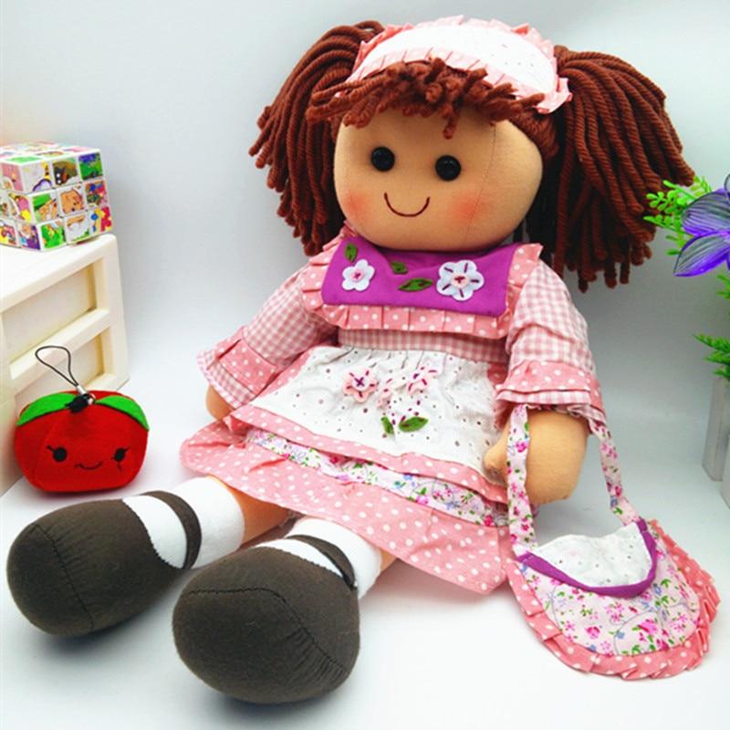 Smafes utstoppa rag dukker leke for jenter 17 tommers mykt baby født - Dukker og tilbehør - Bilde 4