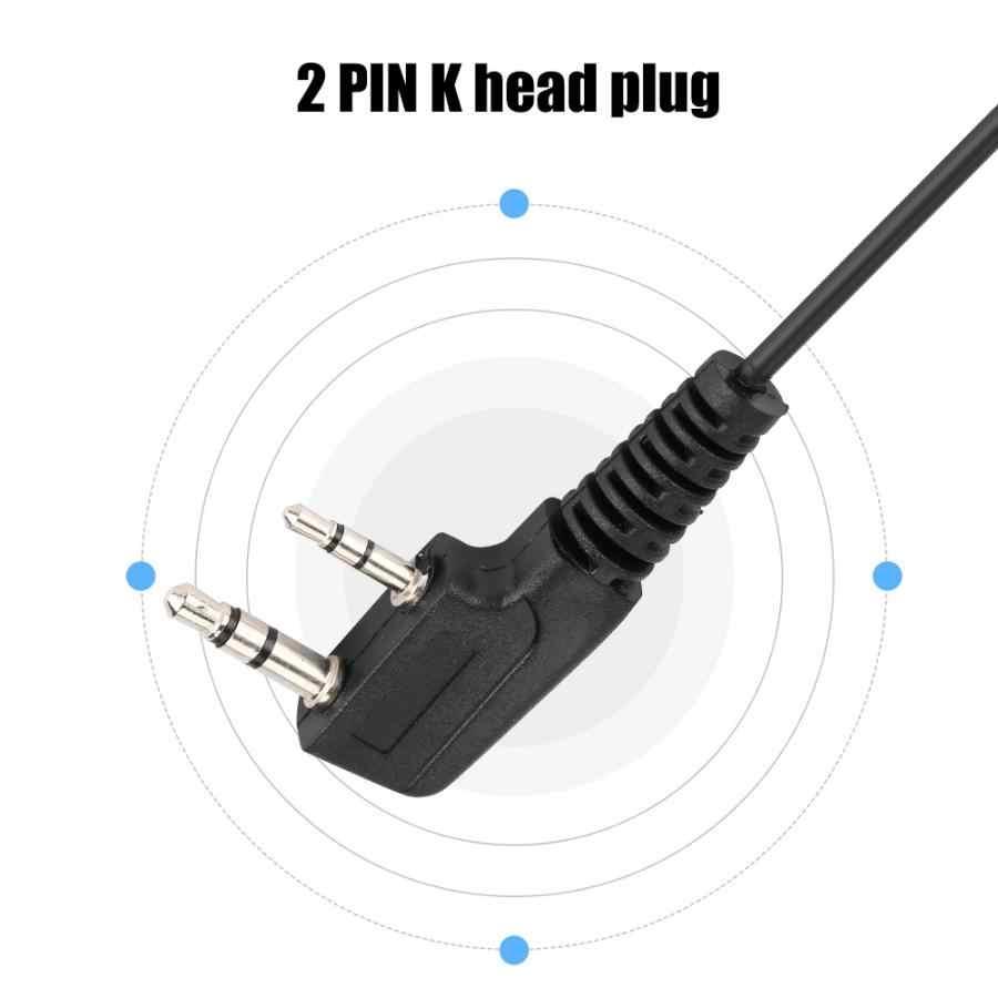 2Pin K Plug Walkie Talkie zestaw słuchawkowy z mikrofonem PTT dla Baofeng UV-5R BF-888S dla Kenwood Retevis dla Motorola dwukierunkowe Radio