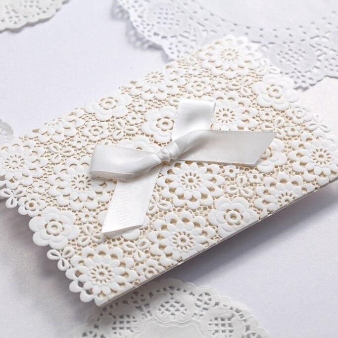 de boda en relieve elegante blanco de encaje cinta envolvente mariposa de papel de impresin