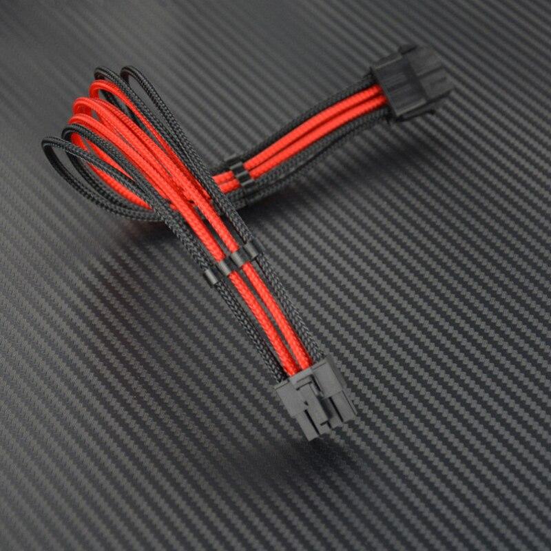 ULT-Meilleure Extension Câble EPS CPU 8Pin Mâle à 8pin Femelle Nylon À Manches Alimentation Câbles PC PSU TW puissance Fil Conducteur 30 cm