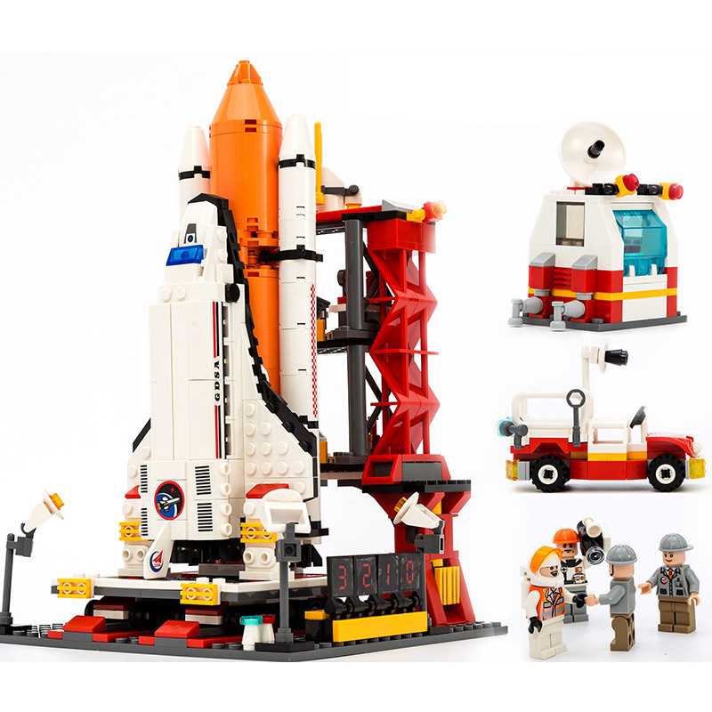 Spaceport Space The Shuttle Launch Center Bricks Building Block Educational Toys For Children Compatible 679Pcs in Blocks from Toys Hobbies