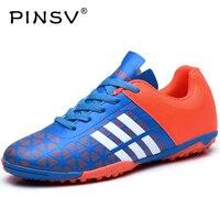 PINSV Yeni Futbol Çizmeler Futbol Ayakkabıları Erkek Superfly Ucuz Satılık Çocuklar Kilitler Kapalı Futbol Ayakkabıları Chuteira Futbol Ayakkabı Siyah