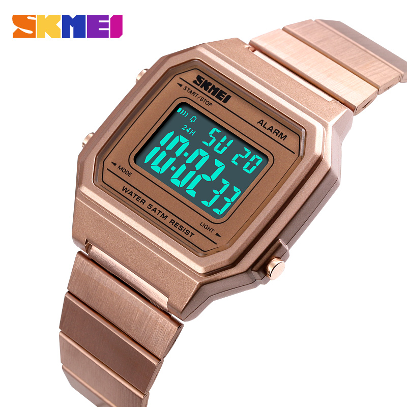 Men's Watches Digital Watches Initiative Skmei Mens Digital Watches Chronograph Date Week Wristwatche For Man El Light 12/24 Hour Alarm Clock Hand Watch Horloges Mannen