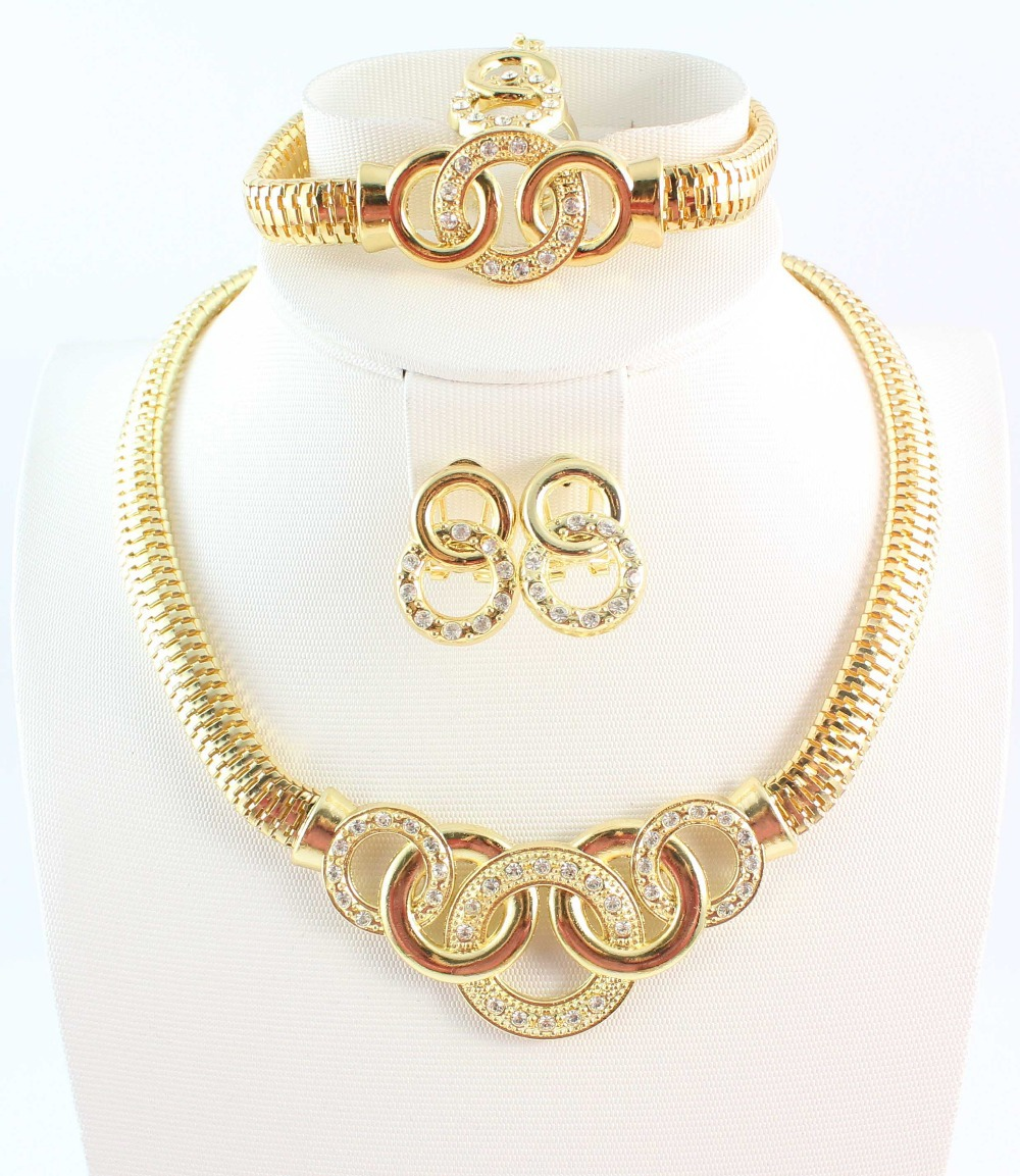 2014 wedding gold jewelry sets plated 18K necklace african beads - WWS Jewelry (Min Order $10 store)