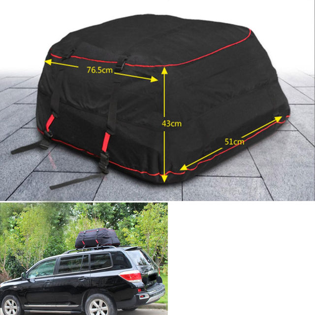 Bbq A Waterproof Car Roof Top Carrier Cargo Bag Rack Storage Luggage Travel Fit