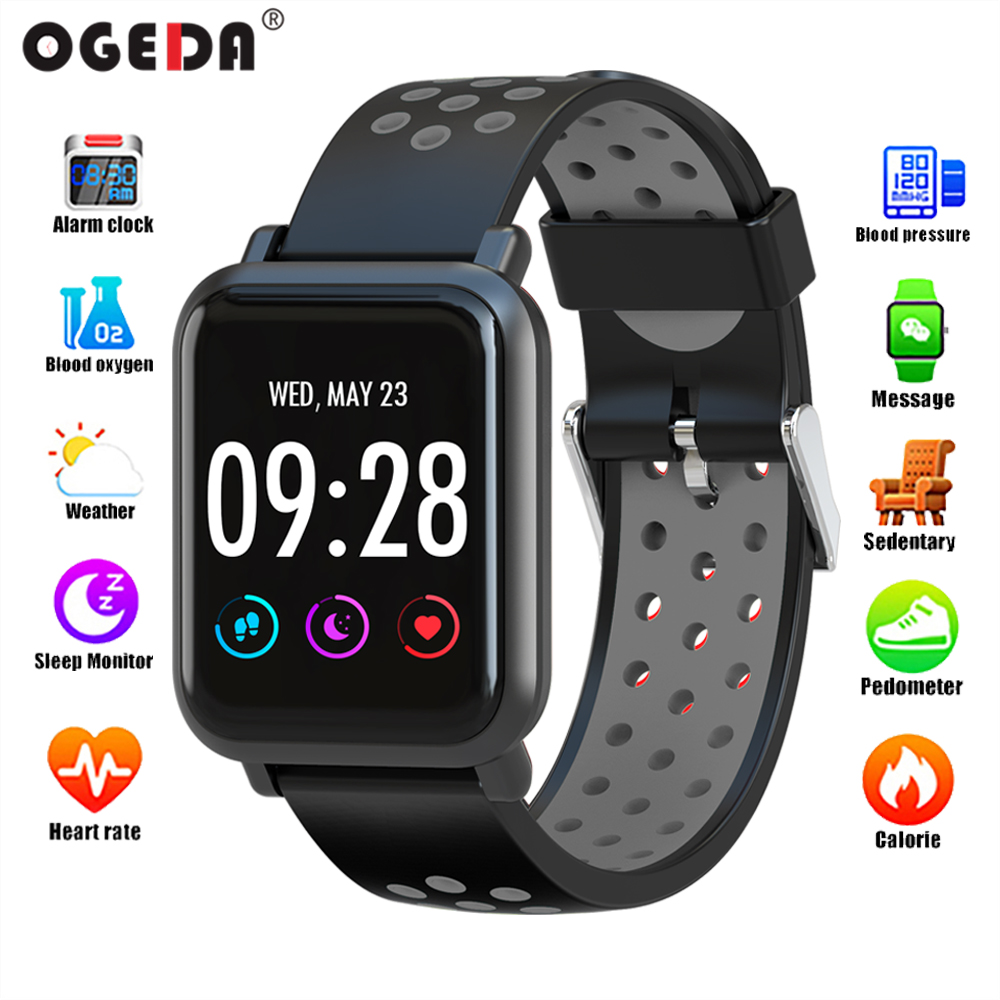 2018 Best Selling Color Screen Men's Smart Sports Fitness Women Look Smart Watch Heart Rate Blood Pressure Tracker Bluetooth