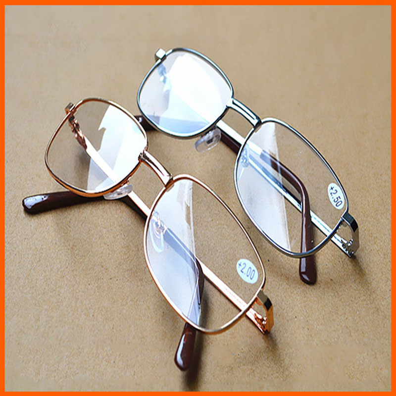 Full Metal Frame Resin Lenses Comfy Light Glasses For Men Women Reading Glasses 1.0 1.5 2.0 2.5 3.0 3.5 4.0