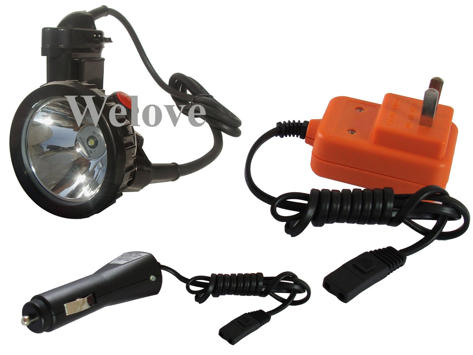 LED Mining Light Headlamp med batterioplader Gratis - Bærbar belysning