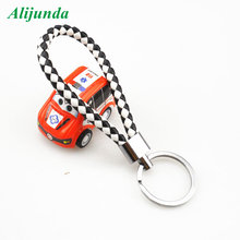Creative Hand-woven Leather Rope Keychain Men Women Car Keyring for Toyota Lexus ES250 RX350 330 ES240 GS460 CT200H CT DS LX LS(China)