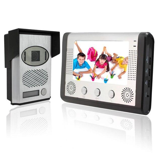 7 Inch Video Door Phone & Doorbell Video Intercom Kit 1V1 Night Vision Video Intercom Camera for Home F1640D