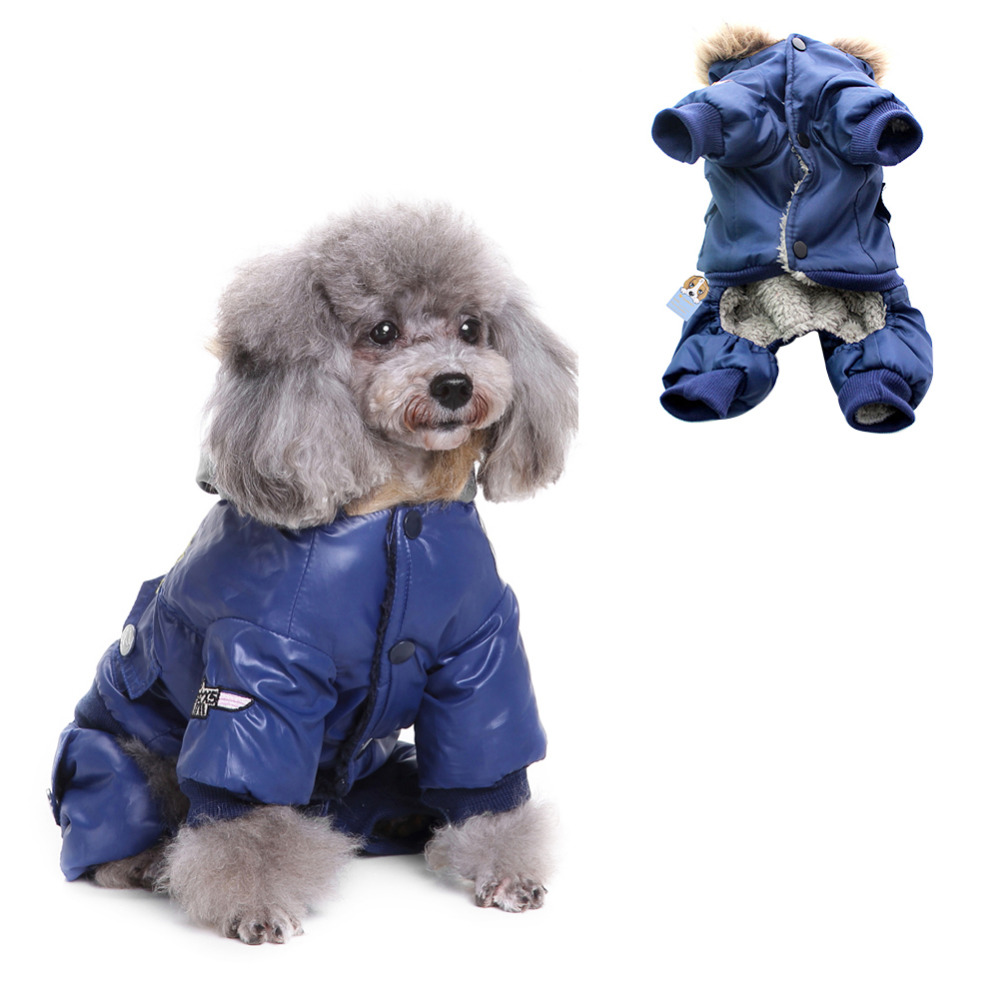 Dog Pet Warm Soft Coat Jacket USA AIR FORCE Waterproof Puppy hoody Clothes Padded Jumpsuit Pants Apparel Clothes for cat Puppy
