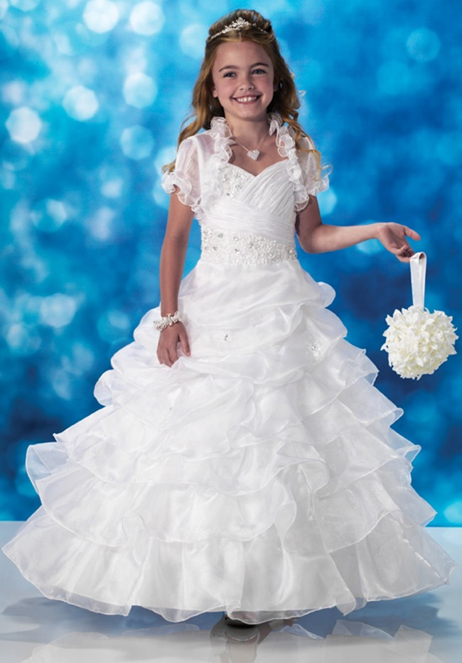 2016 new elegant lovely girl christening princess birthday