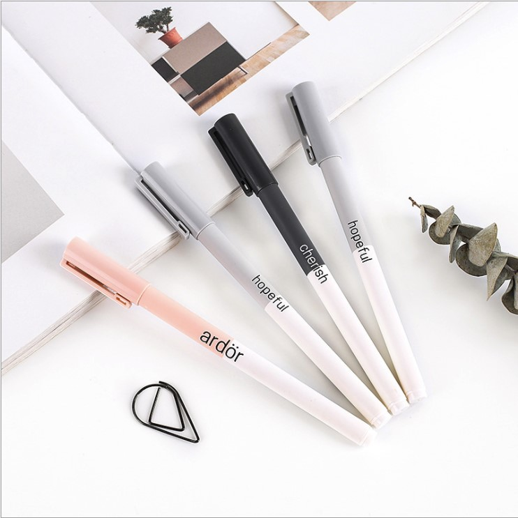 4pcs/set Cute Gel Pens Colored Ink Cat Pen Fresh Kawaii Ballpoint School Canetas Boligrafos Gift Stationery Office Supply 0.5mm
