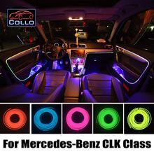 Flexible Neon Cold Light / 9M EL Wire For Mercedes For Benz CLK Class W209 A209 C209 / Car Central Control Desk Decorative Strip