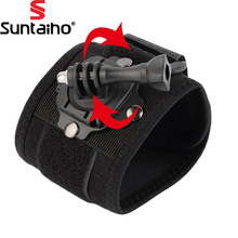Suntaiho for Gopro Accessories Hand Strap Tripods 360 Degrees Rotate Gopro Wrist Strap Arm Mount for GoPro Hero 4 3+3 2 Sjcam