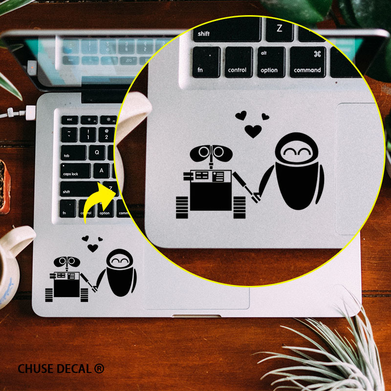 Low Cost The Love of WALL-E Robot Notebook Touchpad Decal