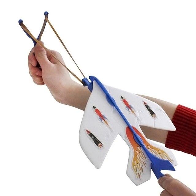 הגעה חדשה הקלע בליסטרא התלקחות אור LED מטוס ארצ 'ר חץ ציד חיצוני תחרות צעצוע ילד מתנת חג המולד