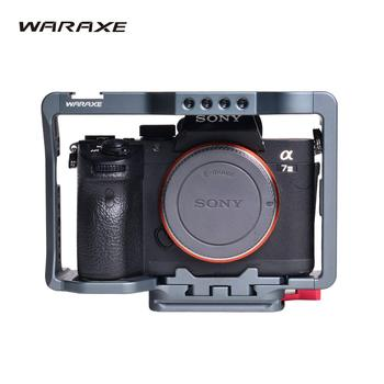 WARAXE A7III R3 Cage for Sony A7RIII/ A7III/A7MIII A73 A7M3 A72 A7 II and III Camera Protection Rig for ILCE-7RM3 / A7R Mark III