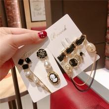 Korea Handmade Vintage Camellia Tassel Crystal Rhinestone Pearl Badge Brooches Pins Fashion Jewelry Woman Accessories-JQGWBH043E