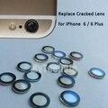 Para a apple iphone 6 ou 6 plus camera lens original safira cristal Único de Vidro Sem Moldura + 3 M Adesivo Substituir Rachado Lente