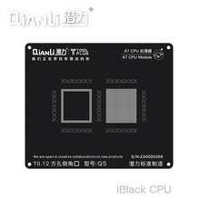 QIANLI Square Hole Tin Planting Black Steel Mesh 3D Positioning Apple A7-A11 Board Universal CPU  T0.12
