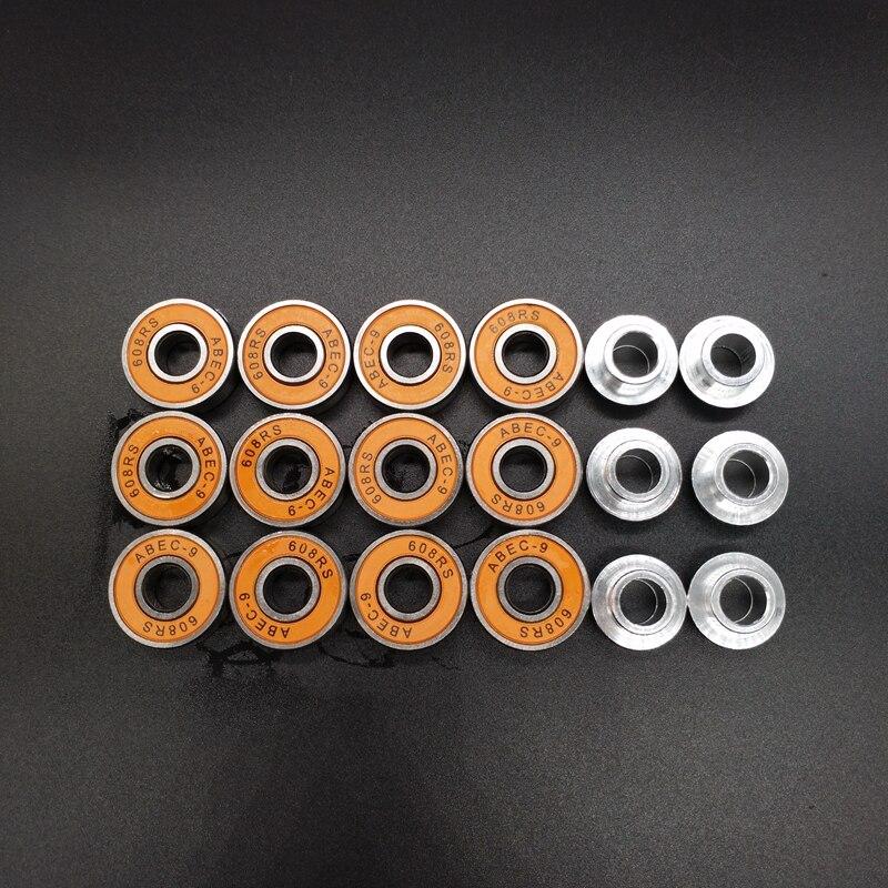 Free Shipping Skate Bearing ABEC-9 High Speed 12 Pcs Bearing 6 Pcs Spacer