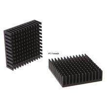 2 шт 40x40x11 мм радиатор из экструдированного алюминия черный