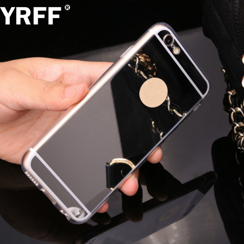 YRFF para Apple iPhone 7 6 plus 5s 5 funda Funda de lujo Gold Plating - Accesorios y repuestos para celulares