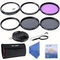 K & F Concepto 67mm Slim CPL UV FLD ND4 + Macro Close Up 4 10 + kits de limpieza de la lente de filtro para nikon d7100 d5100 d3100 d3200 d7000
