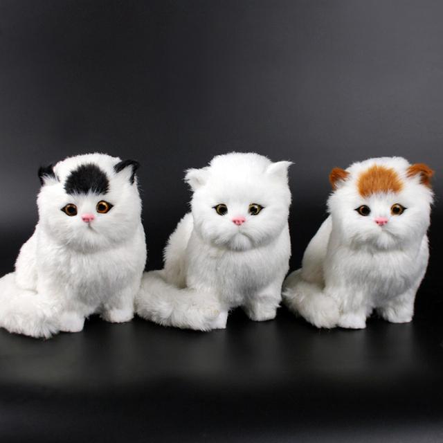 Gato de pelúcia Boneca Crianças brinquedos animais gato vai meowth das crianças gatos de estimação ornamentos modelo de brinquedo de pelúcia presentes de aniversário criança Eletrônico para animais de estimação
