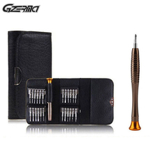 25 IN 1 Leather Case Precision Screwdriver Kit Mini Multifunctional Mobile Phone Repair Tools Set For iPhone PC Tablet
