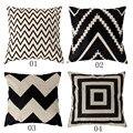 4 Tipos de 45*45 cm Moda Vintage Cotton Linen Capa de Almofada Lance Fronha Frete Grátis