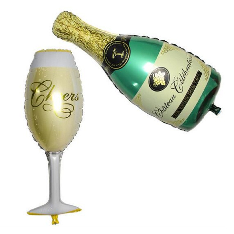 New Champagne Cup Beer Bottle Balloons Aluminium Foil Ballon Birthday Wedding Pa