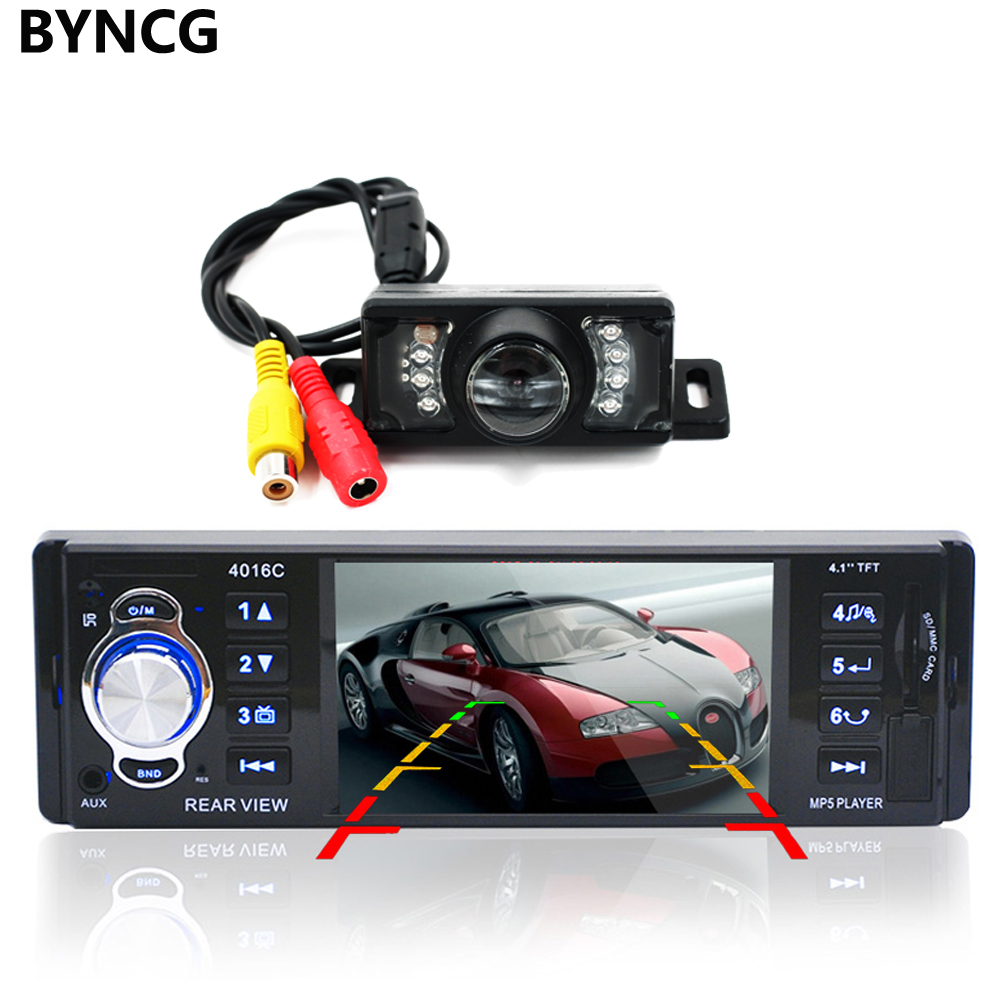 4.1 Inch 1 Din Car Video Mp5 Player Car Radio Player High-definition LCD Display Car Audio Player with IR Rear View Camera 4016C chimole a910 high quality high power 300w 9 inch high definition display dvd player portable square speakers