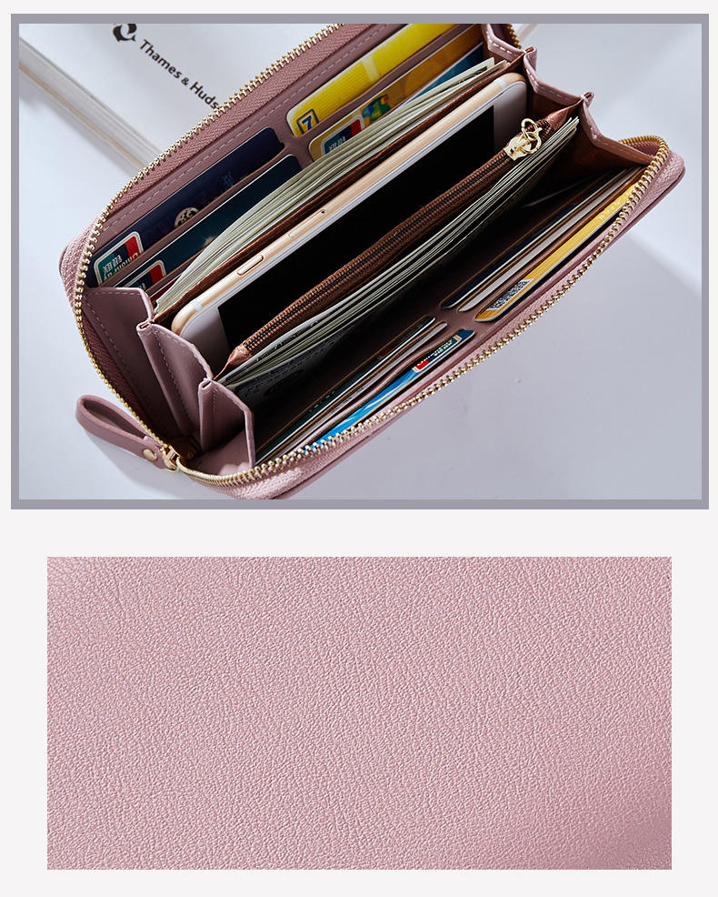 Women Long Clutch Wallet Large Capacity Wallets Female Purse Lady Purses Phone Pocket Card Holder Carteras 20