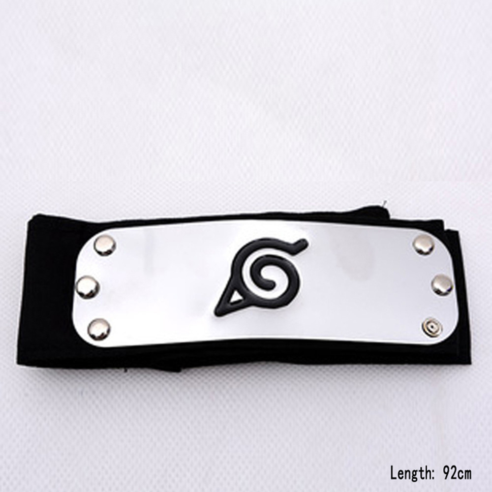 Anime Unisex Cartoon Image Hair Accessories Naruto Forehead Guard Headband Halloween Cosplay Costume Accessories