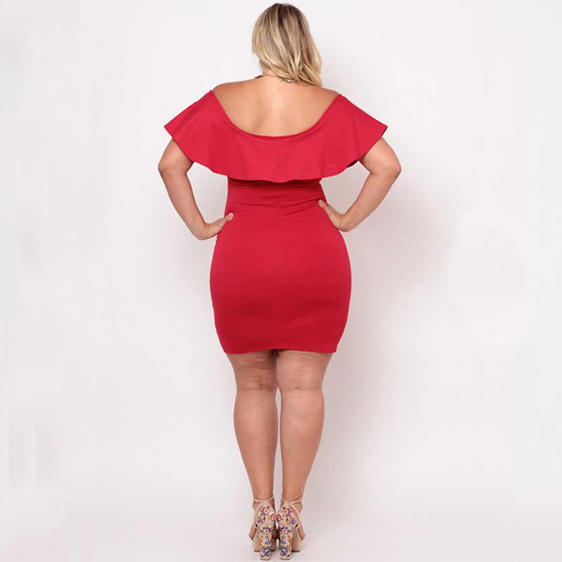 2ec4ef63b41 ... Женское платье-Карандаш Летнее сексуальное Клубное черное платье  больших размеров для женщин 4xl 5xl 6xl ...