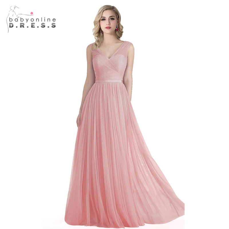 Online Get Cheap Blush Pink Bridesmaid Dress Aliexpress