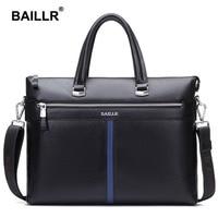Brand Genuine Leather Luxury Men Briefcase Business Men Messenger Bag Fashion Cowhide Leather Bag Men Laptop