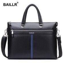 BAILLR Marke Luxus männer Aktentasche Aus Echtem Leder Männer Tasche Geschäfts Leder Aktentasche Männer Laptop Leder Männer Schultertasche