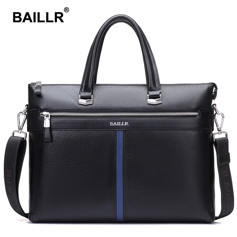 Brand Luxury Men s Briefcase Genuine Leather Men Bag Business Leather Briefcase Men Laptop Leather